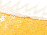 Close Up of a Frosty Cold Glass of Beer