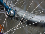 Close-Up of Wired Bicycle Spokes