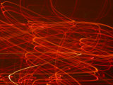 Abstract Motion Blur Pattern of Red Lights Swirling