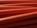 Horizontal Rows or Industrial Red Pipes