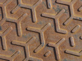 Metal Diamond Plate Manhole Cover Pattern