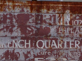 Faded French Quarter Sign  New Orleans  Louisiana  Usa