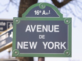Street Sign for Intersection of Avenue De New York in Paris  France