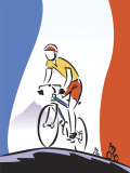 French Flag by Cyclist Racing