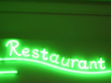 Neon Green Restaurant Sign