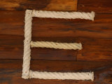 Letter E Rope on Wood