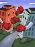Angry Buildings Boxing Each Other across Street