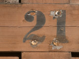 Painted Number on Warped Wooden Boards