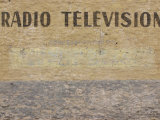 Text of Radio Television Written on Painted Wall Surface
