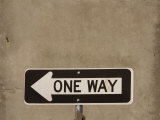 One Way Street Sign