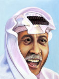 Portrait of Smiling Man in Arabian Garb