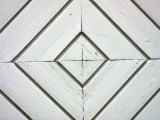 White Weathered Wooden Diamond Pattern