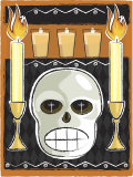 Altar with Human Skull and Candles