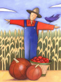 Autumn Season Harvest by Scarecrow