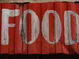 Worn  Painted Food Sign