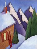 Winter Snow around Ski Lodge