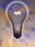 Dollar Sign in Light Bulb