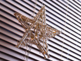 Wire Star Decoration by Window Shutters