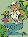 Woman Gardening