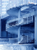 Architecture of Bridge with Winding Staircase in Canada