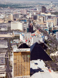 Aerial View of the Bustling City of Las Vegas  Nevada