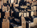 Aerial View of Buildings and High Rises in the Bronx  New York