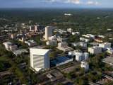 Aerial View of Buildings and High Rises in Tallahassee  Florida