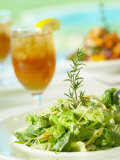 Plate of Fresh Salad and Glass of Tea