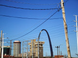 Historic Gateway Arch and Buildings in St Louis  Missouri