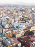Aerial View of Cityscape and Buildings in Mexico City  Mexico