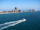 Aerial Along Coast of West Palm Beach  Florida