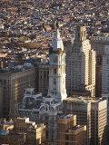 Aerial View of Historical Philadelphia City Hall in Philadelphia  Pennsylvania