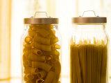 Variety of Dried Pastas in Jars