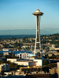 Exterior of Historic Space Needle in Seattle  Washington