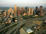Aerial View of Cityscape in Dallas  Texas