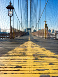 Historical Landmark of Brooklyn Bridge in New York City  New York