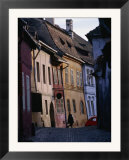 Medieval Facades in the Village Where Count Dracula Was Born  Sighisoara  Mures  Romania