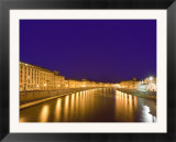 Lights Reflect on the Arno River  Pisa  Italy
