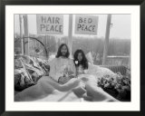 John Lennon and Wife Yoko Ono Having Weeks Love in Their Room at the Hilton Hotel  Amsterdam