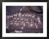 Ancient Pueblo-Anasazi Rock Art Showing a Hunt Scene