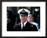 Prince Andrew in Naval Uniform Returns from Falklands 1982 at Portsmouth Docks on Hms Invincible