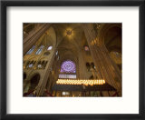 Interior of Notre Dame Cathedral  Paris  France