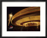 Christmas Star and Carousel at Night  Seattle  Washington  USA