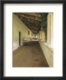 Outside Covered Passageway at the Mission Carmel Near Monterey  Carmel-By-The-Sea  California  USA