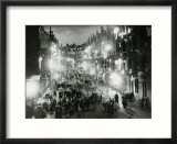 Rolland Street Maryhill Glasgow June 1953 Coronation Illuminations Decorations Crowds in Street