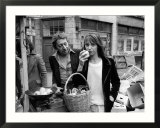 Jane Birkin and Serge Gainsbourg in London Shopping in Berwick Street Market