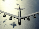 B-52 Stratofortress in Flight over the Pacific Ocean