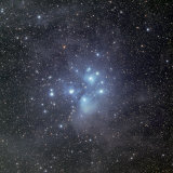 Pleiades Surrounded by Dust and Nebulosity
