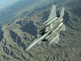 US Air Force F-15E Strike Eagle on a Combat Patrol over Afghanistan