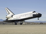 Space Shuttle Endeavour's Main Landing Gear Touches Down on the Runway